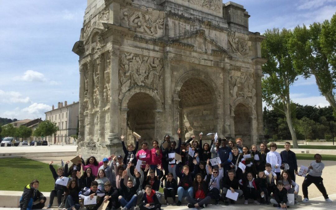 Lundi 20 Mai : Orange et le Pont du Gard