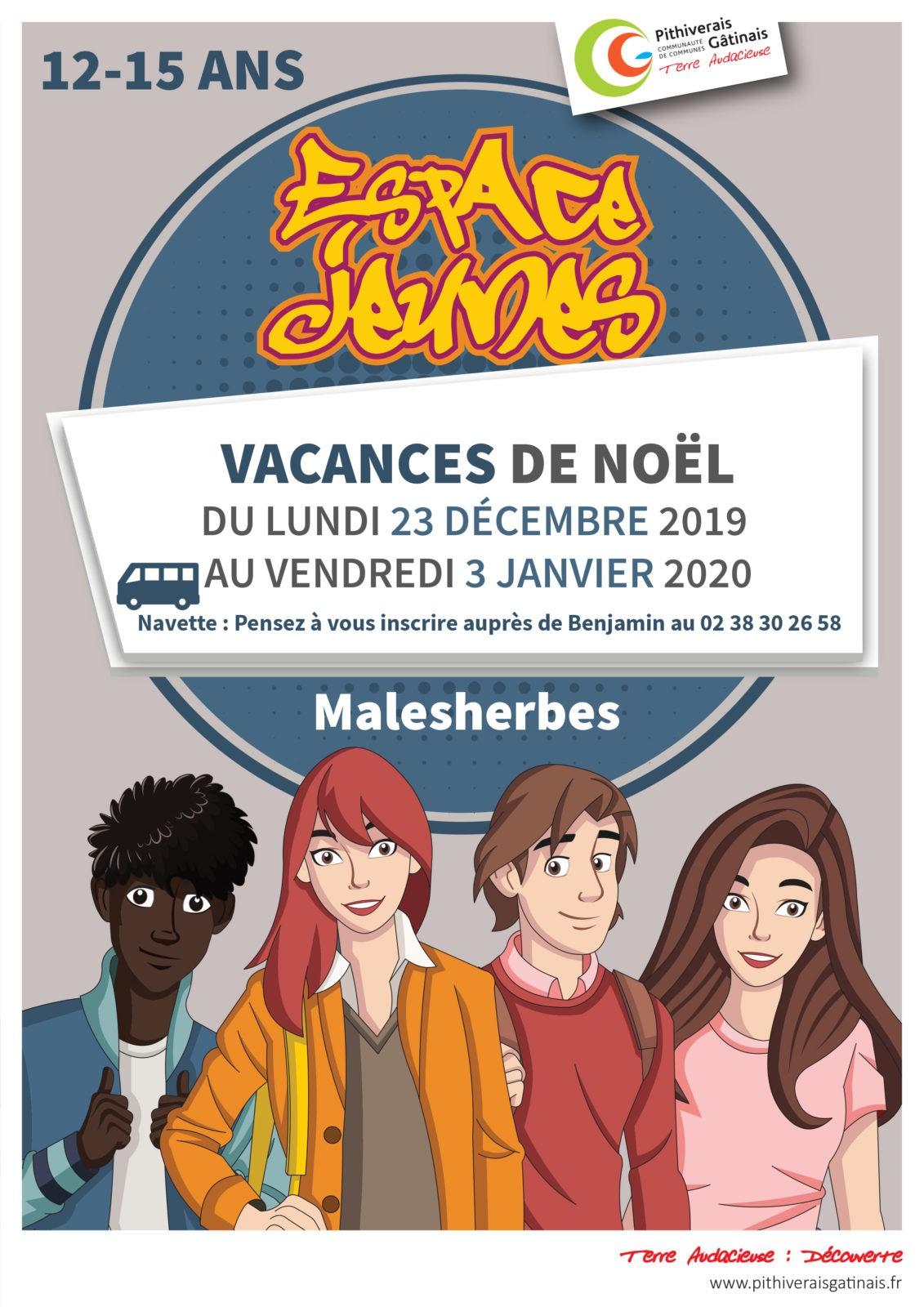 Espace Jeunes – Vacances de Noël