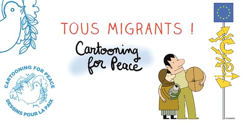 """Exposition """"Tous migrants"""" au CDI"""