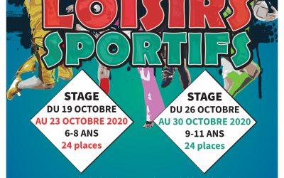 Stage Loisirs Sportifs – Vacances de la Toussaint